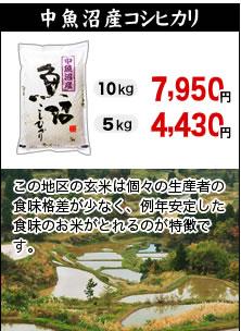 中魚沼産コシヒカリ